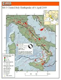 us geological earthquake map magnitude 6 3 central italy