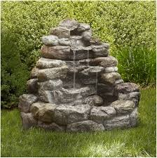 backyards impressive decorative outdoor water fountains ideas 35