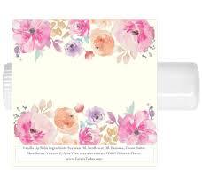 lip balm favors 15 watercolor floral lip balm chap stick favors