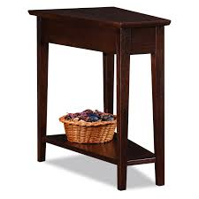 Cherry End Tables Leick Recliner Wedge Chocolate Cherry End Table Hayneedle