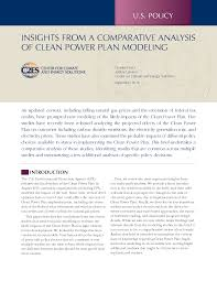 insights from a comparative analysis of clean power plan modeling