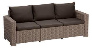 Rattan Two Seater Sofa Cushion Pads For Keter Allibert California Rattan Garden Furniture