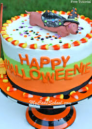 Halloween Witch Cake by Weenie Dog Cake Topper U0026 Tri Colored Buttercream My Cake