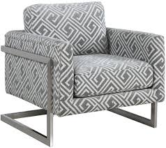 Donny Osmond Home Decor by White And Grey Upholstered Accent Chair By Donny Osmond From