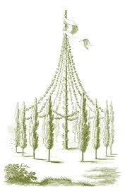stock images whimisical maypoles vintage garden the graphics