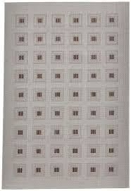 squares pattern rug flat weave polypropylene neutral vegas floor