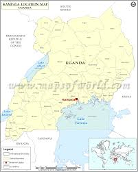 Map Of Uganda Where Is Kampala Location Of Kampala In Uganda Map