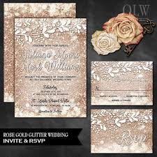 wedding invitations quincy il gold wedding invite and rsvp card gold wedding set