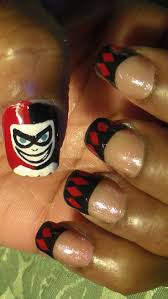 the 40 best images about harley quinn nails ideas on pinterest