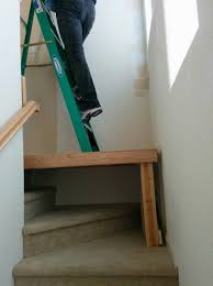 Cost To Decorate Hall Stairs And Landing How To Paint With A Ladder On Uneven Surfaces