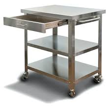 stainless steel kitchen island cart metal kitchen island cart pixelkitchenco regarding metal kitchen