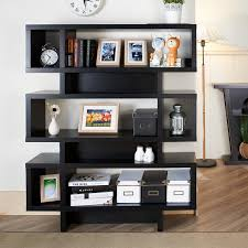 Narrow Black Bookcase by Furniture Appealing Interior Storage Design With Black