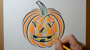 how to draw a pumpkin for halloween tattoo design style youtube