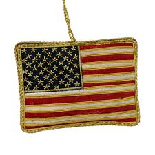 embroidered us flag ornament the shops at mount vernon