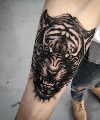 small forearm tiger for tatoo