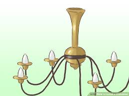 wiring a chandelier how to install a chandelier with pictures wikihow