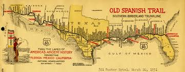 Map Of Texas And New Mexico by Migration Routes Old Spanish Trail Early Spanish Texas And New