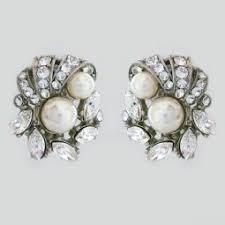 clip on earring clip on bridal earrings clip earrings wedding eveningwear