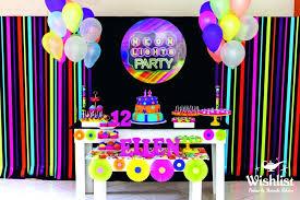 neon party supplies neon party decor skate themed birthday via ideas centerpiece