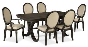 7 Piece Dining Room Sets Victoria 7 Piece Dining Room Set Grey And Beige Leon U0027s