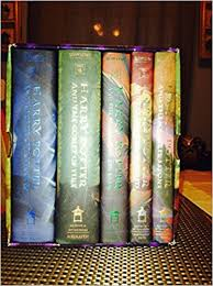 harry potter hardcover box books 1 5 rowling mary