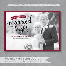 Newlywed Cards Married And Bright Christmas Card Newlyweds By Simplymoderndesignx