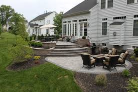 Raised Patio Pavers by Doylestown Raised Patio R U0026r Caddick Landscape Design