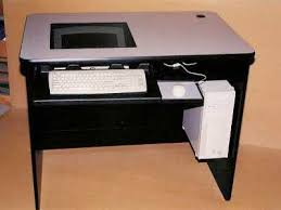 Recessed Monitor Computer Desk Ron Metts Construction Custom Designs