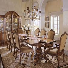 universal furniture villa cortina 9 piece double pedestal dining universal furniture villa cortina 9 piece double pedestal dining set with leather arm chairs hayneedle
