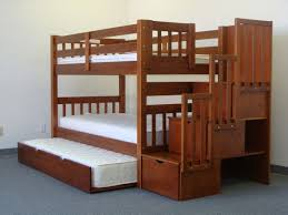 Bunk Bed With Trundle Bed Bunk Beds Stairway Expresso Trundle Awesome