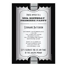 movie premiere celebrity 50th birthday photo gala invitation card