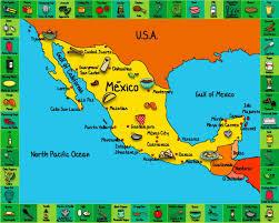 Cuernavaca Mexico Map by Amazon Com Handstand Kids Set Of Three All Purpose Kitchen Mats