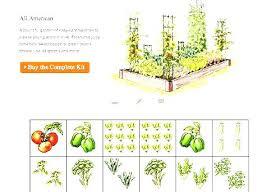 Garden Layout Planner Garden Templates The Demo For Raised Vegetable Layout X