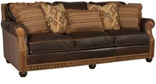 Leather With Fabric Sofas Julianna Leather And Fabric Sofa 3000 Lf King Hickory Array