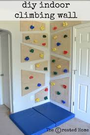 how to build a simple adaptable indoor climbing wall house