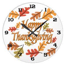 thanksgiving wall clocks zazzle