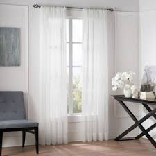 Where To Buy White Curtains Buy Sheer 95 Inch Window Curtain Panel In White From Bed Bath Beyond