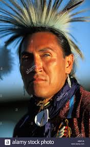 usa idaho portrait of native american indian man in traditional