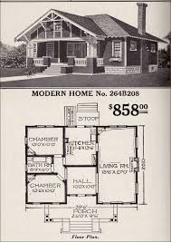 craftsman bungalow floor plans sears roebuck bungalow house plan modern home no 264b208