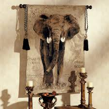 African Safari Home Decor African Voyage Elephant Wall Tapestry