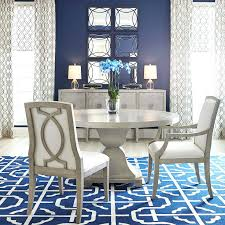 dining table navy blue painted dining table round room