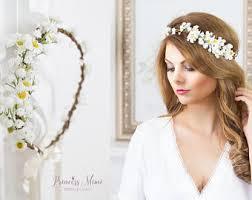 blumen haarschmuck hochzeit flower crown etsy