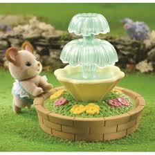 Sylvanian Families Garden - family ornate garden bench u0026 fountain