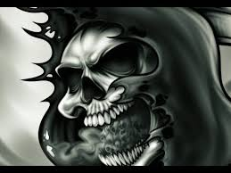 drawing a grim reaper drawing and painting a grim reaper skull