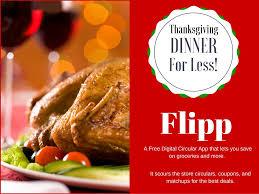 Thanksgiving Meal Deals Flipp Digital Circular App Save On Thanksgiving Dinner