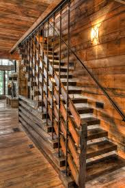 Banister Lake Stair Handrail Staircase Contemporary With Banister Clerestory