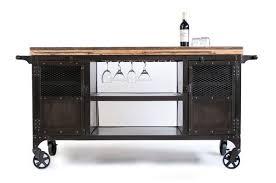 custom made industrial home bar reclaimed wood coffee cart mini