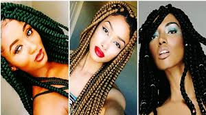 25 cool big box braids hairstyles for black women youtube