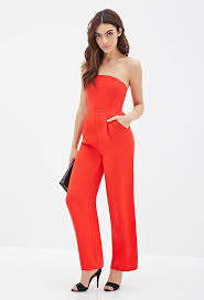 strapless wide leg jumpsuit forever 21 strapless wide leg jumpsuit where to buy how to wear