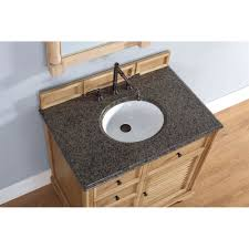 savannah 36 inch bathroom vanity in natural oak finish tropical